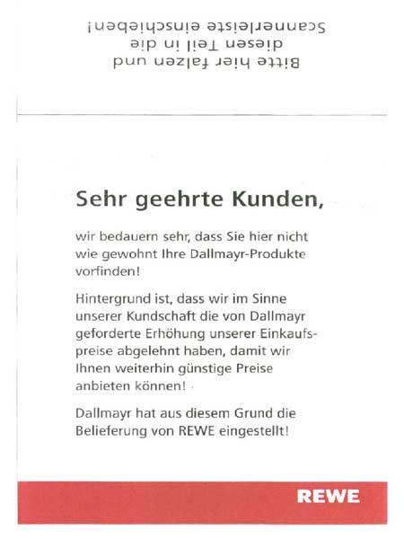 Rewe Vs. Dallmayr – Wer Ist Denn Hier Böse? - Baccantus.
