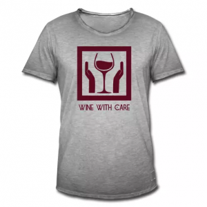 "Baccantus Shirts ""wine with care"""