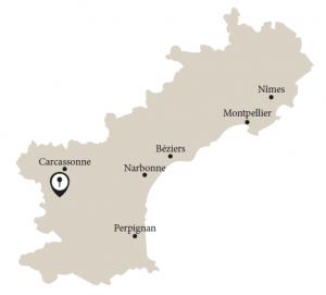Karte Languedoc mit Limoux